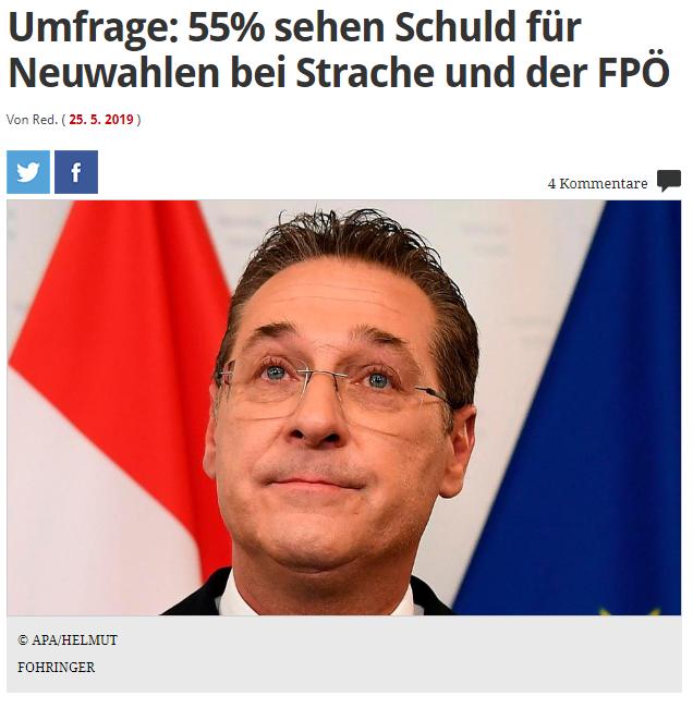 unique research josef Kalina peter hajek Profil Umfrage Ibiza-Affäre Schuld an Neuwahlen FPÖ ÖVP