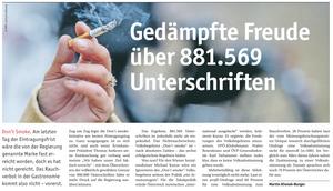 unique research umfrage profil josef kalina peter hajek don't smoke volksbegehren rauchverbot Ärztewoche