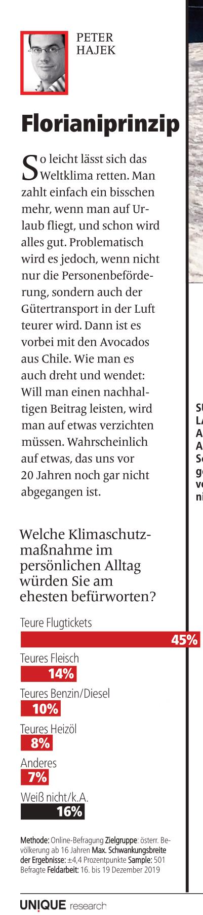 unique research peter hajek josef kalina umfrage klimaschutz