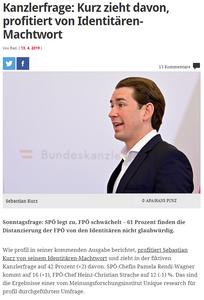 unique research josef Kalina peter hajek Wahl Wählertrend Profil Hochschaetzung April 2019