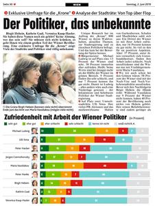 UNIQUE research Umfrage Kronen Zeitung Josef Kalina Peter Hajek Print Artikel