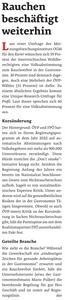 unique research umfrage profil josef kalina peter hajek don't smoke volksbegehren rauchverbot Gastronomie und Hotel Zeitung