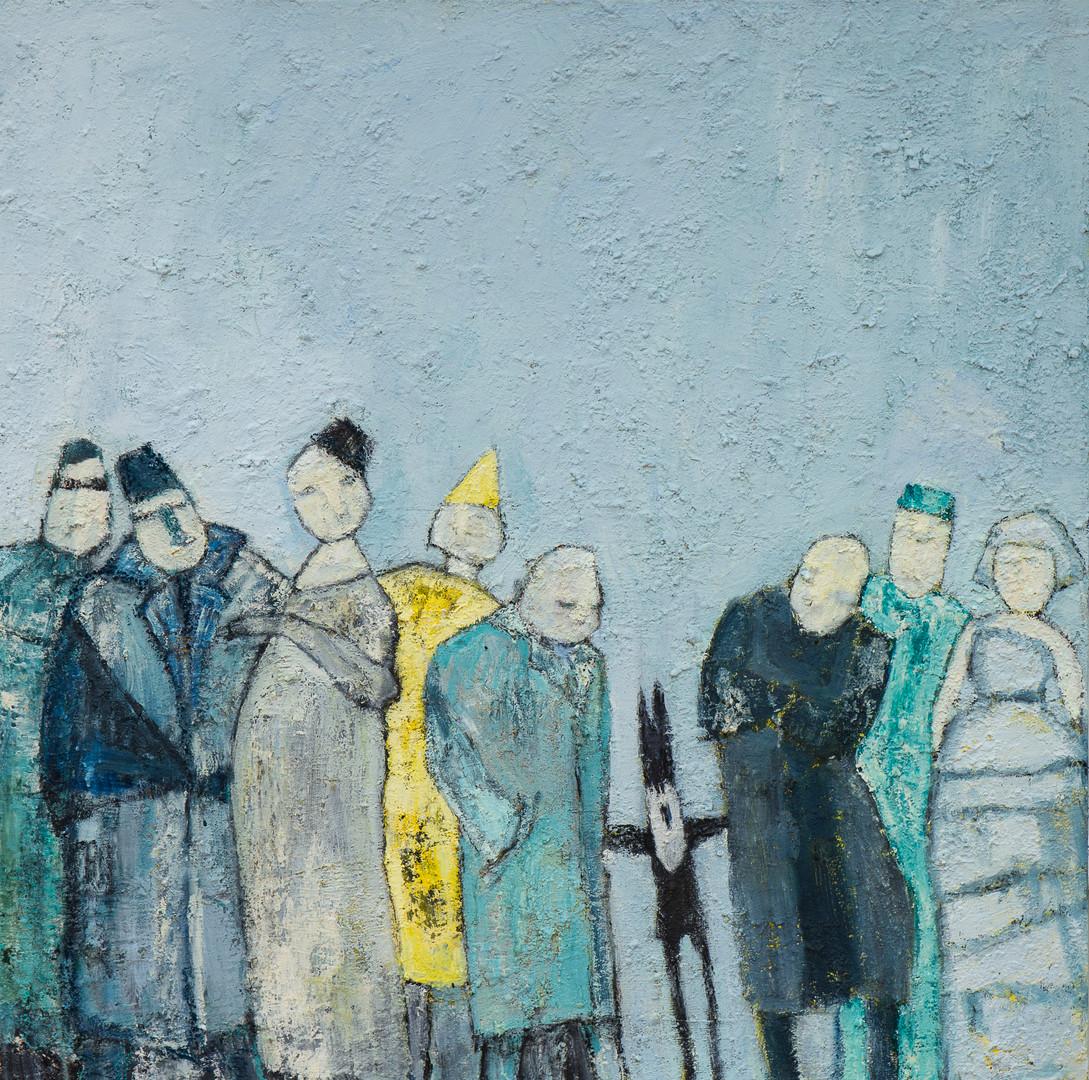 Oliemaleri af Bente Langhoff