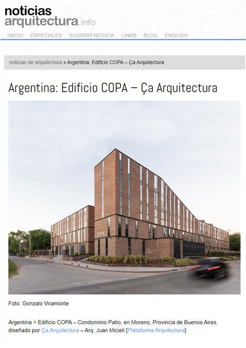 Noticias arq - COPA