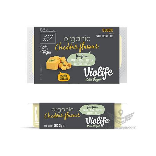 Веганский сыр Violife cheddar BIO БИО сыры Чеддер 200г