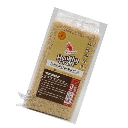 Healthy grain rice Рис жасминовый коричневый цельнозерновой 1кг