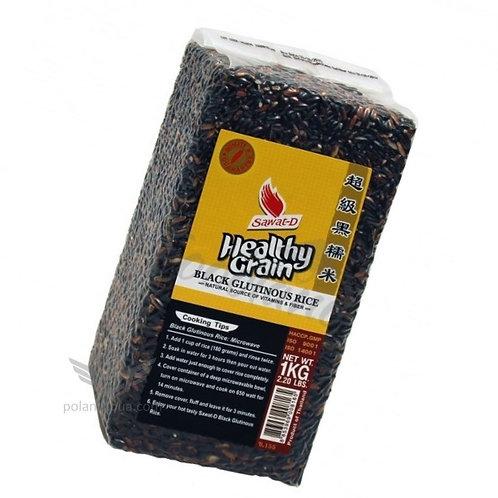 Healthy grain rice Черный клейкий дикий рис, липкий сладкий рис 1кг