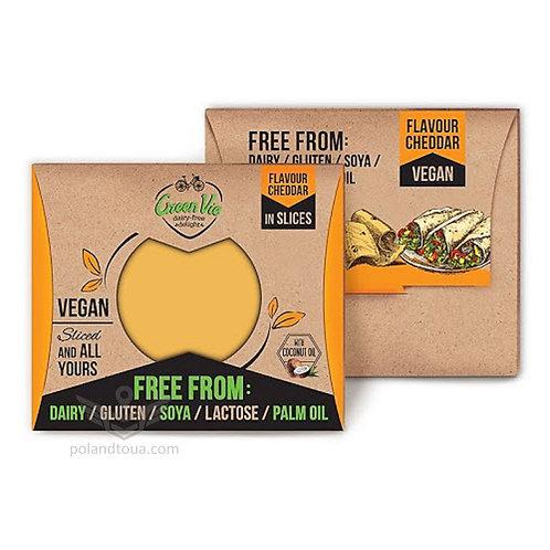 Веганский сыр GreenVie вкус чеддера Cheddar 180г в пластинках