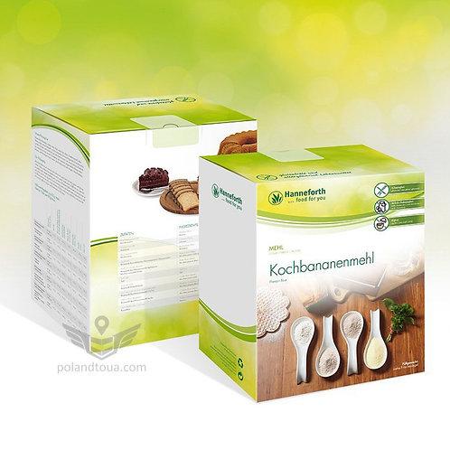 Hanneforth Plantain Flour Бананновая безглютеновая органическая мука 1кг