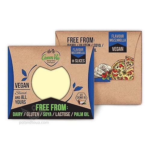 Веганский сыр GreenVie вкус моцареллы Mozzarella 180г в пластинках