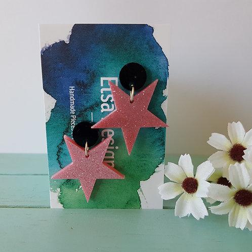Elsa Designs - Pink Glitter Stars