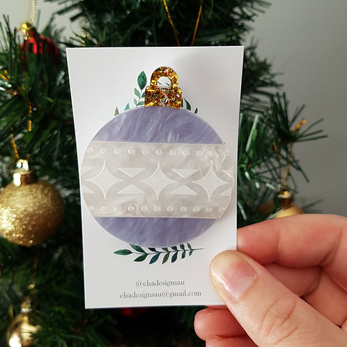 Elsa Designs - Christmas Bauble Brooch (Marble) (Second)