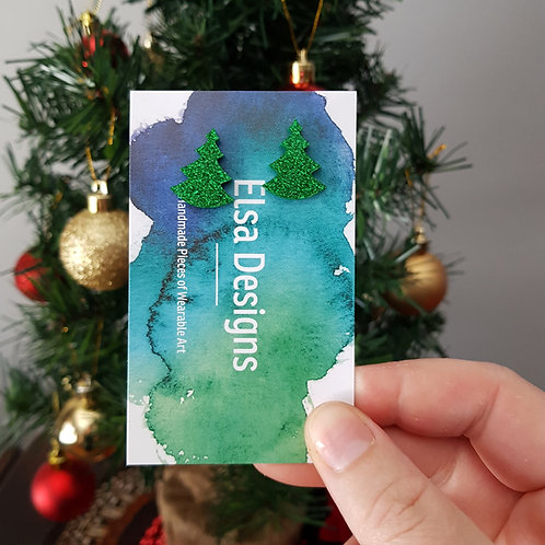 Elsa Designs - Christmas Tree Studs (Glitter)