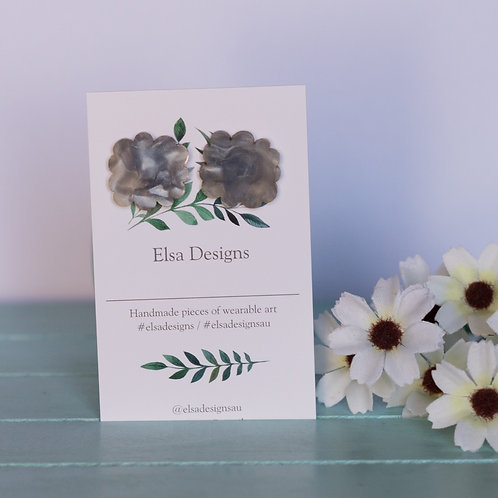 Elsa Designs - Grey Cloud Studs