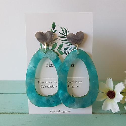 Elsa Designs - Blue Crystal Dangles