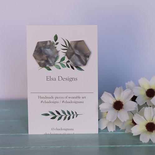 Elsa Designs - Grey Shape Studs