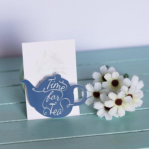 Elsa Designs - Time for Tea (Navy)