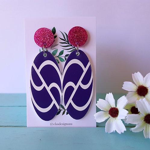 Elsa Designs - Purple Wavy Dangles