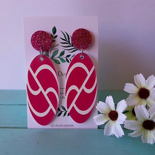 Elsa Designs - Pink Wavy Dangles