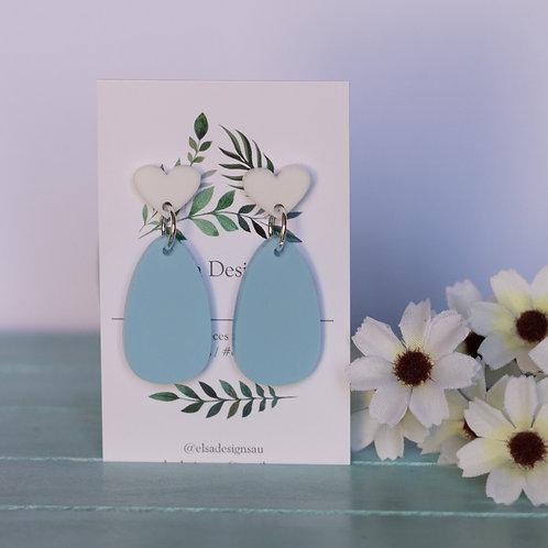 Elsa Designs -  Blue Oval Dangles