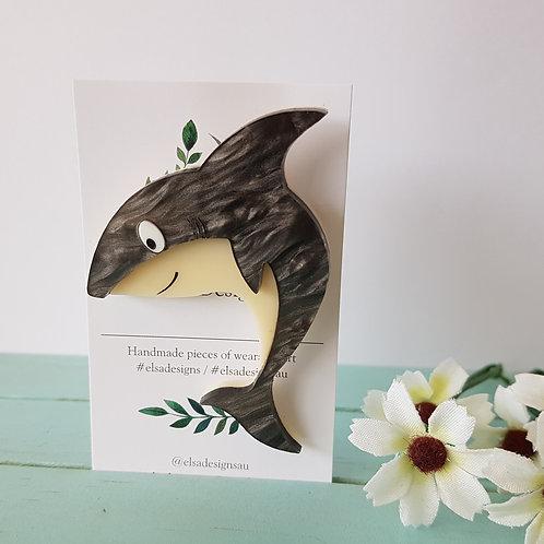 Elsa Designs - Shark (Grey Swirl)