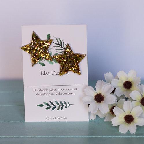 Elsa Designs - Gold Star Studs