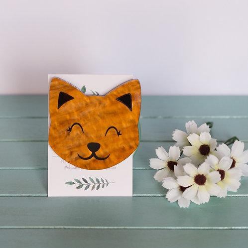 Elsa Designs - Happy Cat (Brown)