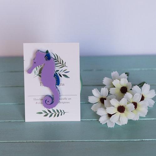 Elsa Designs - Purple Seahorse