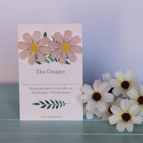 Elsa Designs - Large Pink Daisy Studs