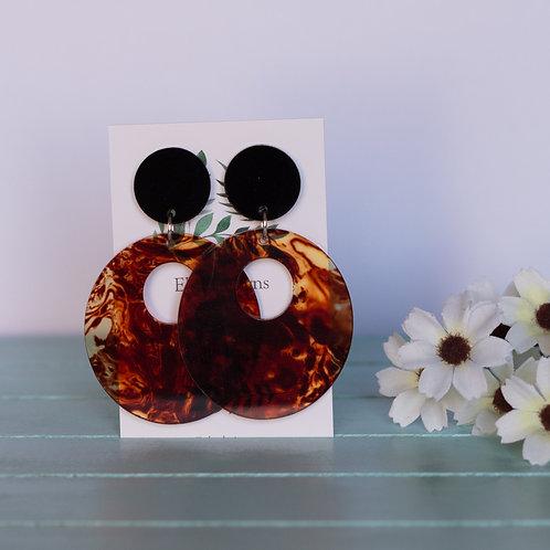 Elsa Designs -  Black & Lava Dangles