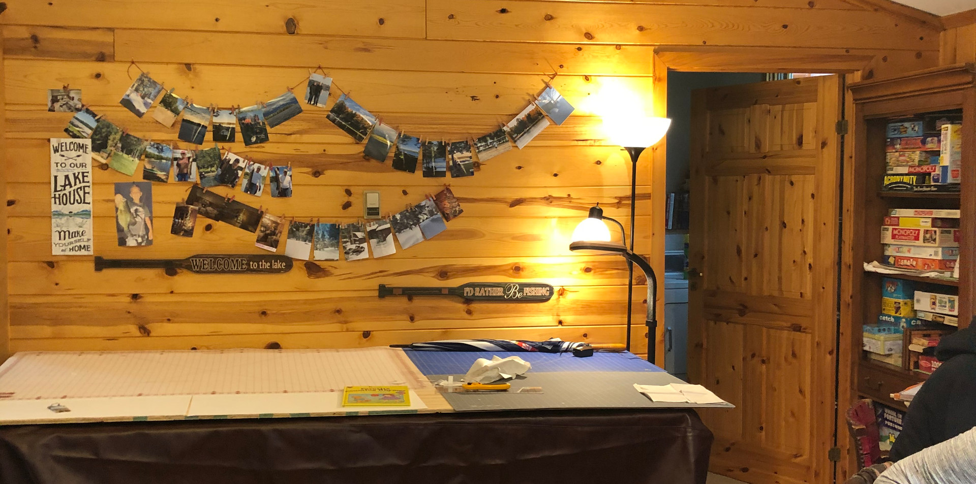 quilting table set up