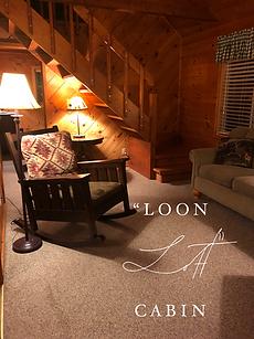 interior of cabin rental
