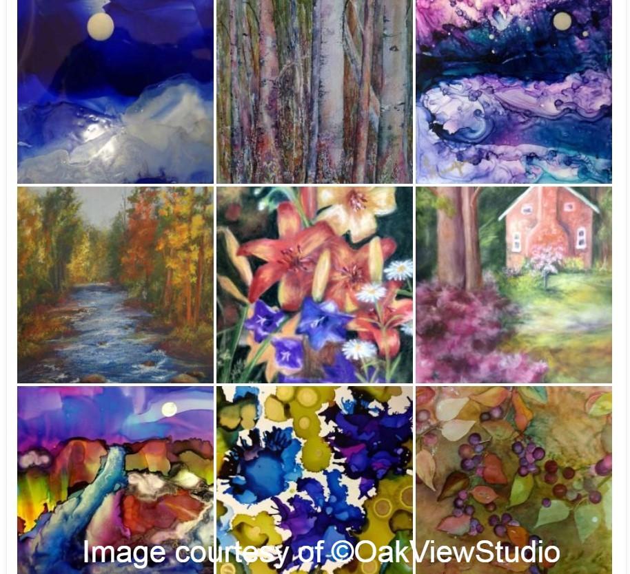artist collage of work
