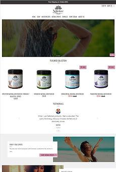 website page after website redesign