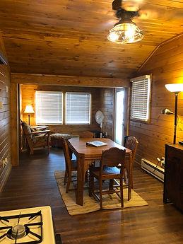 dining room birch trail resort cabin 2