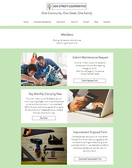 members page of website redesign park forest il