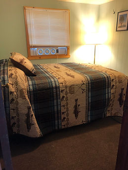 bedroom in cabin 2 birch trail resort