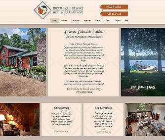 view of birch trail website