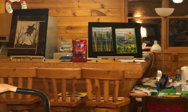 art on display from art workshop