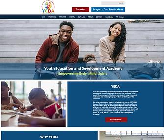 YEDA homepage website designed by Kamadu