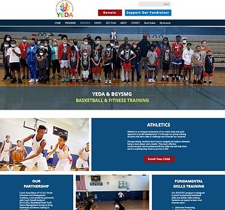 YEDA athletics page screenshot designed by Kamadu