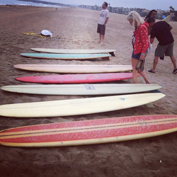 Checking out vintage boards