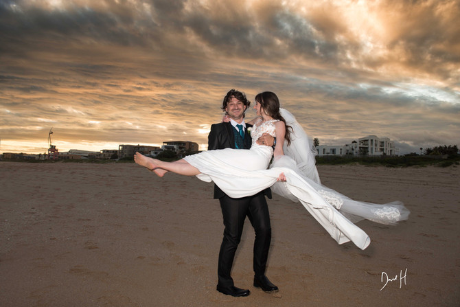 Jeffrey's Bay beach wedding by DHPhotography