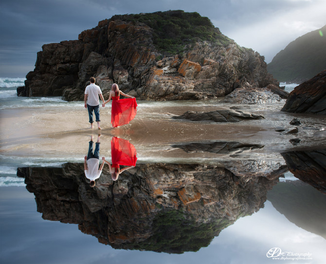Eerste Rivier & Oubos Pre Wedding shoot by DHPhotography Jeffrey's Bay photographers