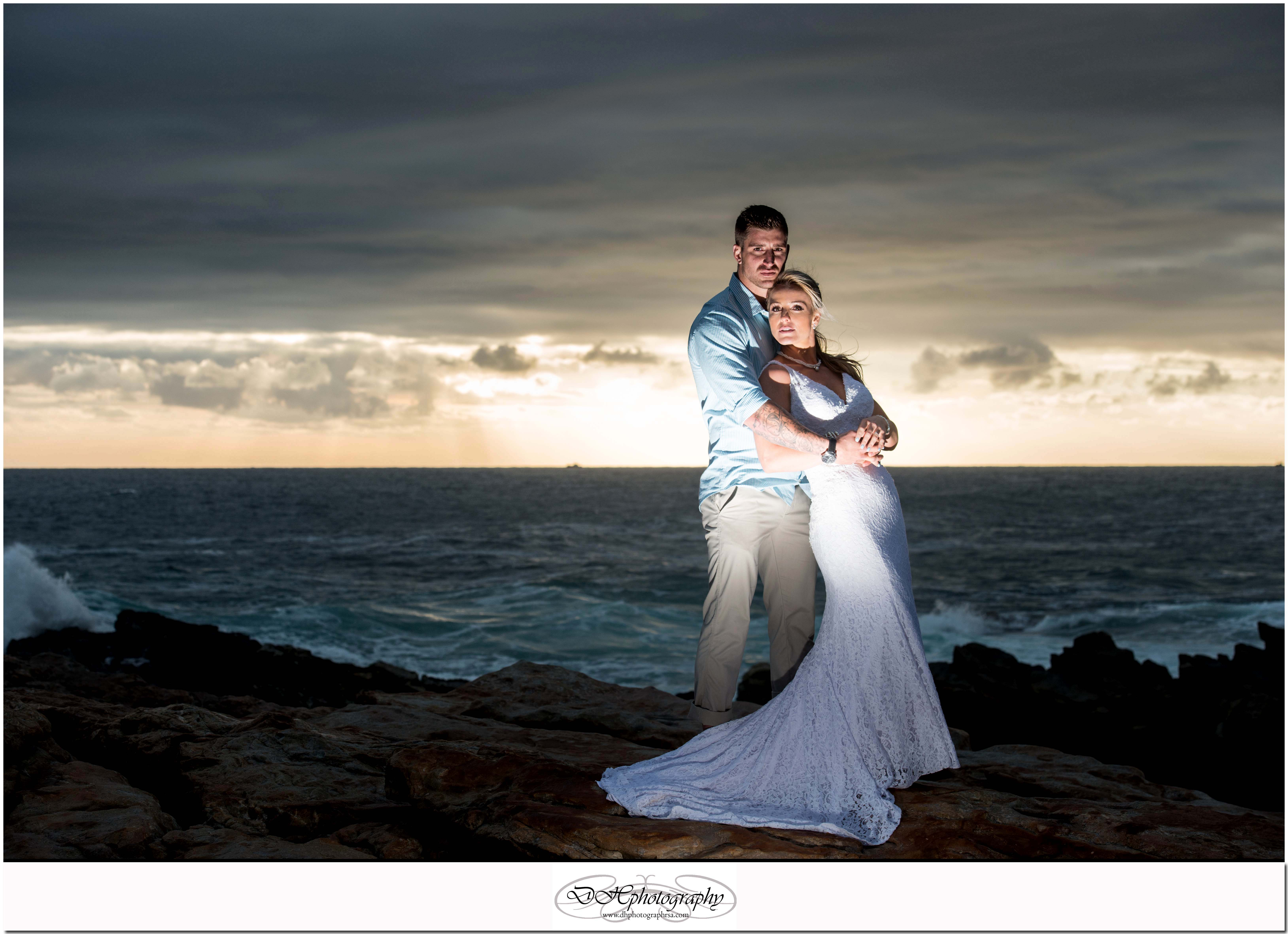 DHPhotography Jeffrey's Bay Photographers Groom & Bride seascapel