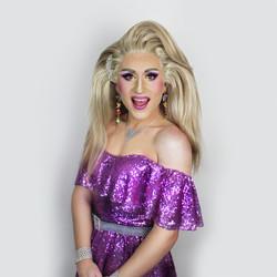 debbie purple dress