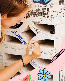 chill spot signature wall