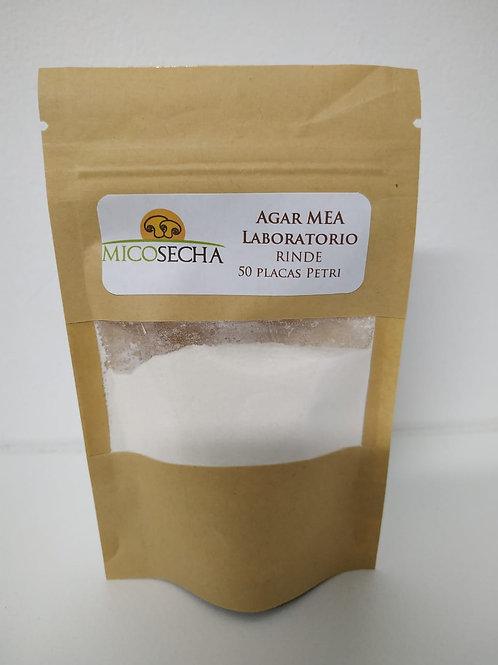 Agar MEA (extracto De Malta). Rinde 50 placas Petri