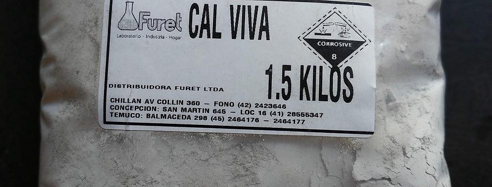 Cal Viva (Oxido de Calcio) - 1, 5 kilos