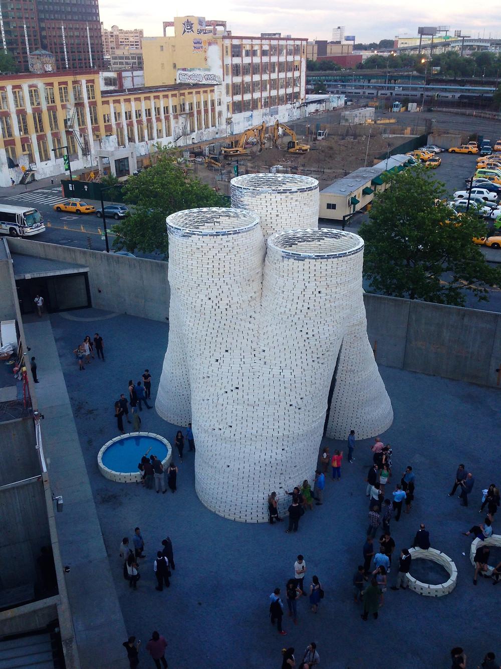 Proyecto Hy-Fi en los espacios de MoMA's PS1, tras alzarse ganador de la décimo quinta edición del Young Architects Program (YAP).